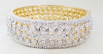 Beautiful Diamond Cuff bangles 7.25 Ct Solid Gold Natural Certified